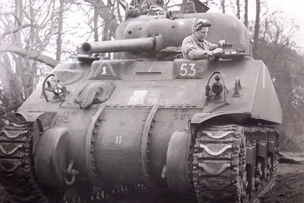 Belle Beaty of Catlowdy, Penton who used to deliver tanks from the factories to the Army Camps in the Second World War.