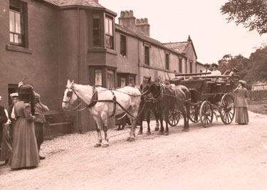 Coach Outside Screes Hotel, Nether Wasdale