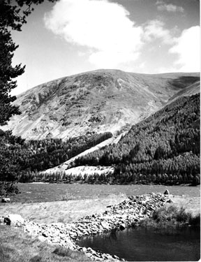 Helvellyn Screes from the western shore of Thirlmere - Photographer Geoffrey Berry