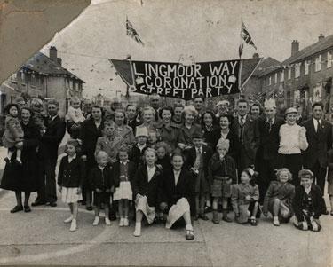 Carlisle Coronation Celebrations  1953. Lingmoor Way, Harraby